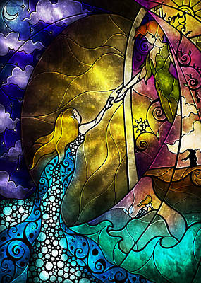 Digital Art - Off To Neverland by Mandie Manzano
