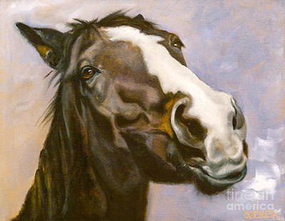 Bay Thoroughbred Horse Painting - Hot To Trot by Susan A Becker