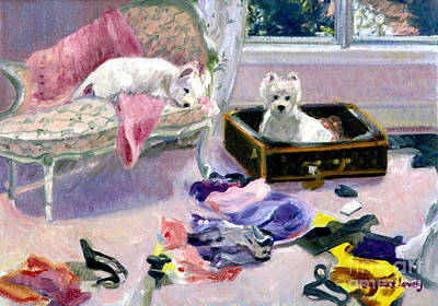 Dog Clothes Painting - So Glad You're Home by Candace Lovely