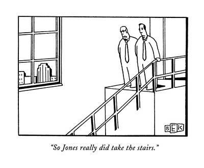 So Jones Really Did Take The Stairs Art Print