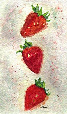 Art Print featuring the painting So Juicy by Angela Davies