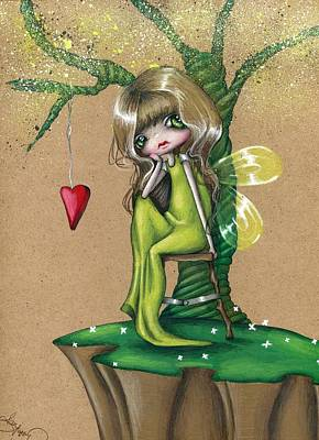 Whimsy Drawing - So Lonely by Sour Taffy