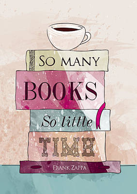 So Many Books Art Print