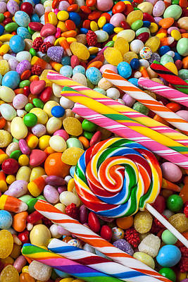 Lollipop Photograph - So Much Candy by Garry Gay