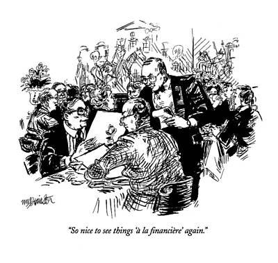 So Nice To See Things '� La Financiere' Again Art Print by William Hamilton