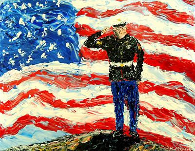 July 4 Painting - So Proudly They Hailed  by Mark Moore