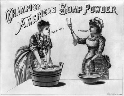 Laundry Painting - Soap Advertisement, C1887 by Granger