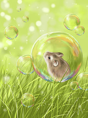 Ipad Painting - Soap Bubble by Veronica Minozzi