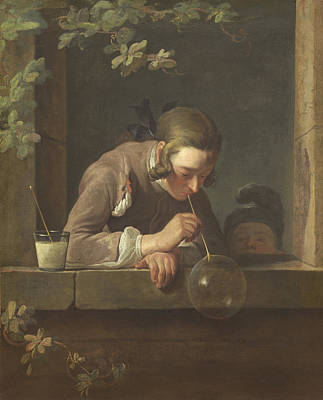 Windowsill Painting - Soap Bubbles by Jean Baptiste Simeon Chardin