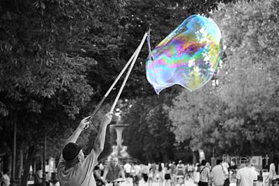 Soap Bubbles  Mix Art Print