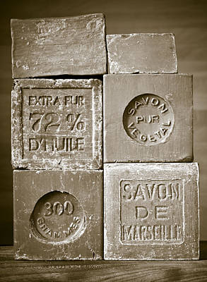 French Laundry Photograph - Soaps by Frank Tschakert
