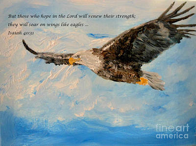 Light Of The World Painting - Soar On Wings Like Eagles... by Amanda Dinan
