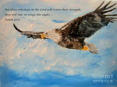 Soar On Wings Like Eagles... Art Print