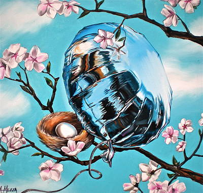 Cherry Blossoms Painting - Soaring by Anthony Mezza