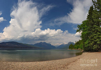 Photograph - Soaring Clouds Over Lake Mcdonald by Charles Kozierok