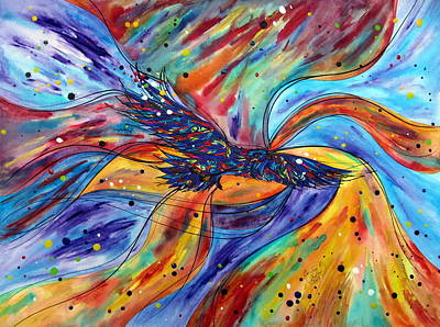 Soaring Painting - Soaring Eagle by Christine Ghattas