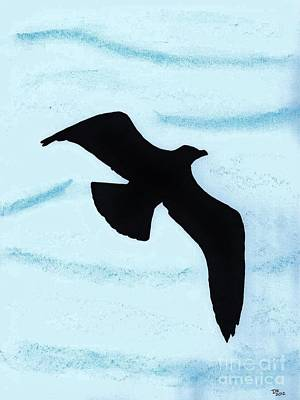 Birds Drawing - Jonathan - The  -seagull by D Hackett