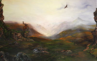 North Sea Painting - Soaring High by Jean Walker