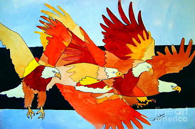 Painting - Soaring In A Thermal  by Dale Jackson