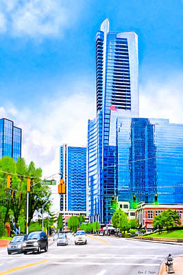 Photograph - Soaring Into The Buckhead Skies - Atlanta Skyline by Mark E Tisdale