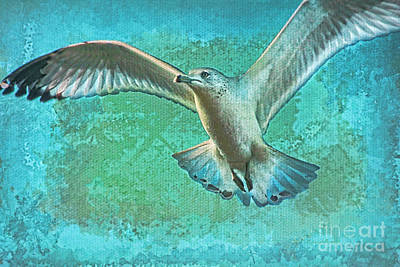 Soaring On Lifes Air Drafts Art Print by Deborah Benoit