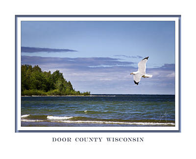 Art Print featuring the photograph Soaring Over Door County by Barbara Smith