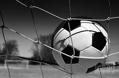 Photograph - Soccer Ball In Goal by Danny Hooks