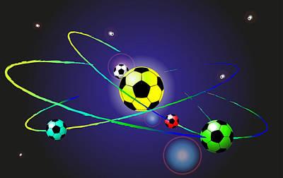 Soccer Ball Art Print by Volodymyr Horbovyy