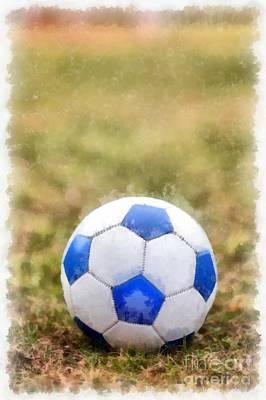 Soccer Ball Photograph - Soccer by Edward Fielding