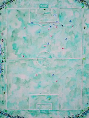 Bleacher Painting - Soccer 'em All by Fabrizio Cassetta