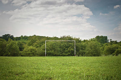 Photograph - Soccer Goal On Grassy Pitch by Matt Walford