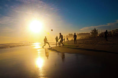 Photograph - Soccer On The Beach by Giovani Cordioli