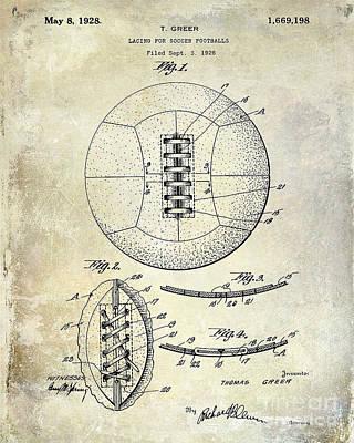 Soccer Ball Photograph - Soccer Patent 1926 by Jon Neidert