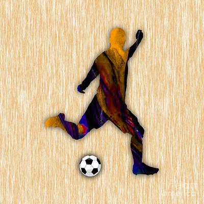 Soccer Player Art Print by Marvin Blaine