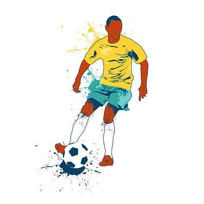 Soccer Player Vector Illustration Art Print
