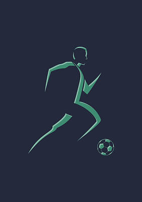 Soccer Player1 Art Print