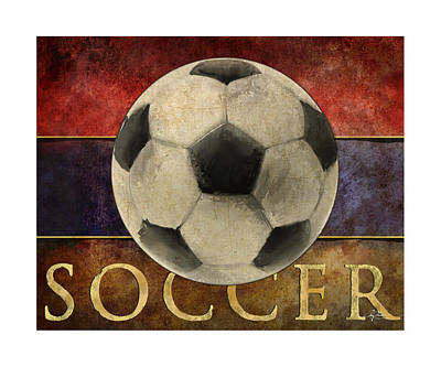 Kick Digital Art - Soccer Poster by Craig Tinder