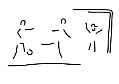 Goalkeeper Drawing - Soccer Shot At Goal Football by Lineamentum