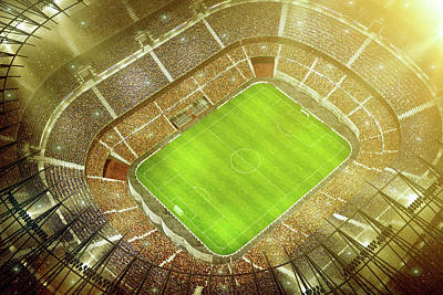 Soccer Stadium Bird Eye View Art Print by Dmytro Aksonov