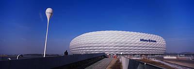Soccer Stadium In A City, Allianz Art Print