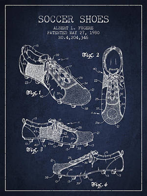 Soccershoe Patent From 1980 Art Print by Aged Pixel
