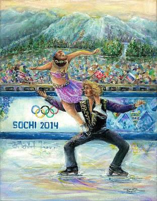 Sochi 2014 - Ice Dancing Art Print