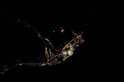 Sochi Olympic Park At Night From Space Art Print by Nasa