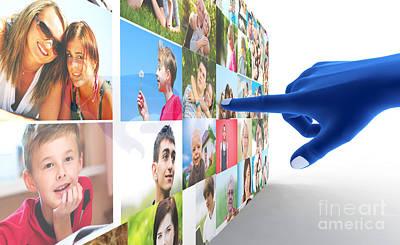 Message Digital Art - Social Media Network by Michal Bednarek