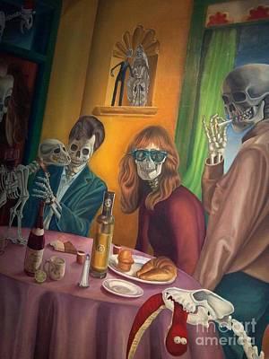 Social Xrays  Art Print by Maureen J Haldeman