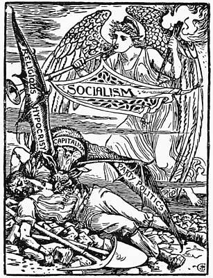 Angel Art Painting - Socialist Allegory, 1885 by Granger