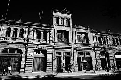 Sociedad Menendez Behety Building And Hernando De Magallanes Street Punta Arenas Chile Print by Joe Fox