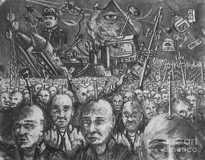 Illuminati Drawing - Societies 3rd Perspectives by William Chas Maxwell