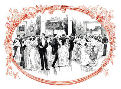 Ballroom Drawing - Society Ball, 1888 by Granger