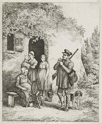 Spinning Drawing - Society For The Door Of A House, Christiaan Wilhelmus by Christiaan Wilhelmus Moorrees